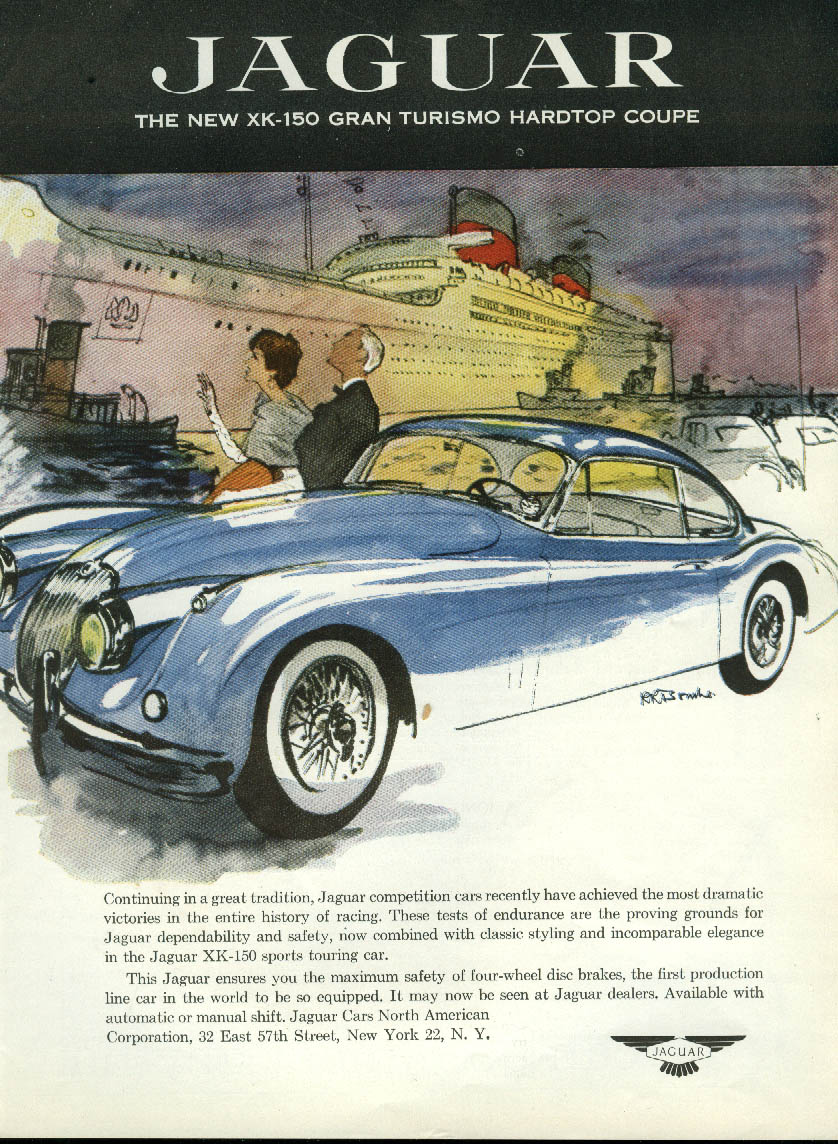 Continuing a great tradition Jaguar XK-150 Gran Turismo Hardtop Coupe ad 1957