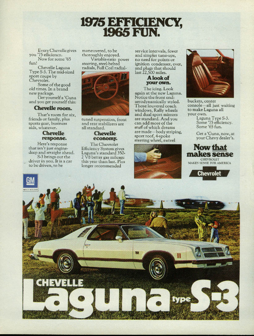 1975 Efficiency 1965 Fun Chevelle Laguna Type S-3 ad 1975