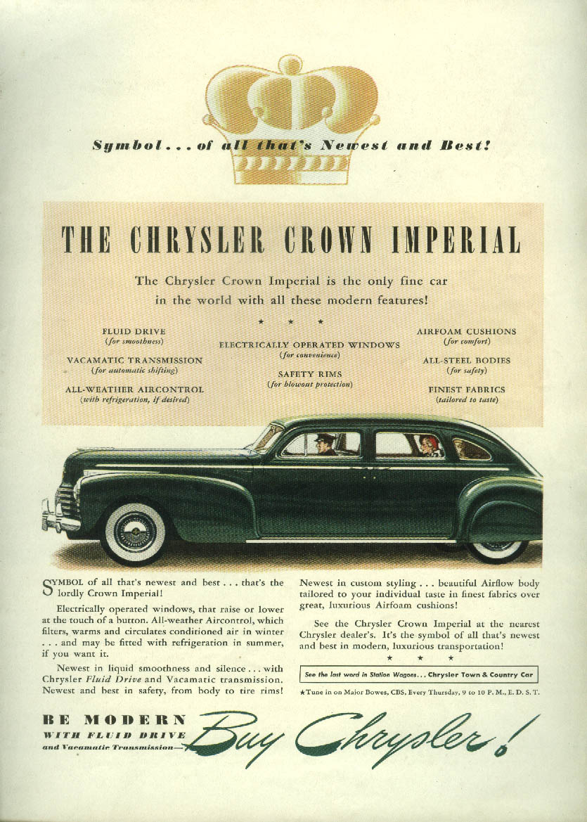Image for Symbol of all that's Newest & Best  - Chrysler Crown Imperial ad 1941