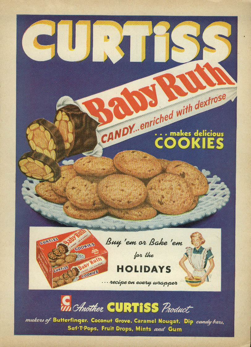 Image for Curtiss Baby Ruth Candy Bars make delicious cookies ad 1952 Better Living