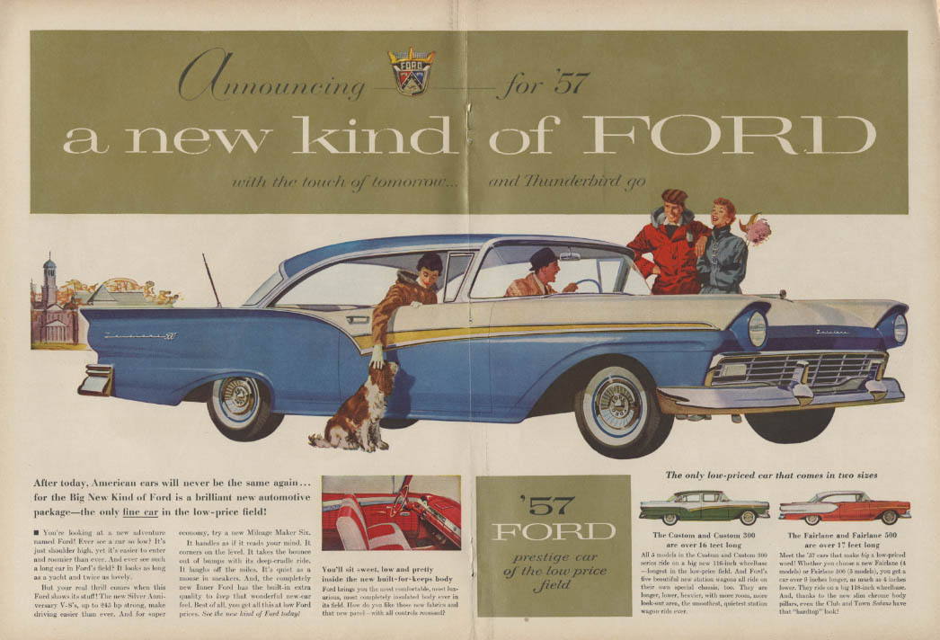 A new kind of Foird with the touch of tomorrow Fairlane 500 ad 1957