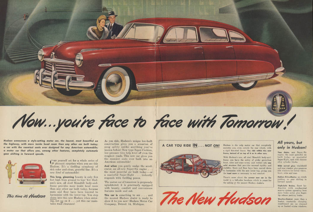 Face to face with Tomorrow! Hudson / Beechcraft Executive Mexico ad 1948