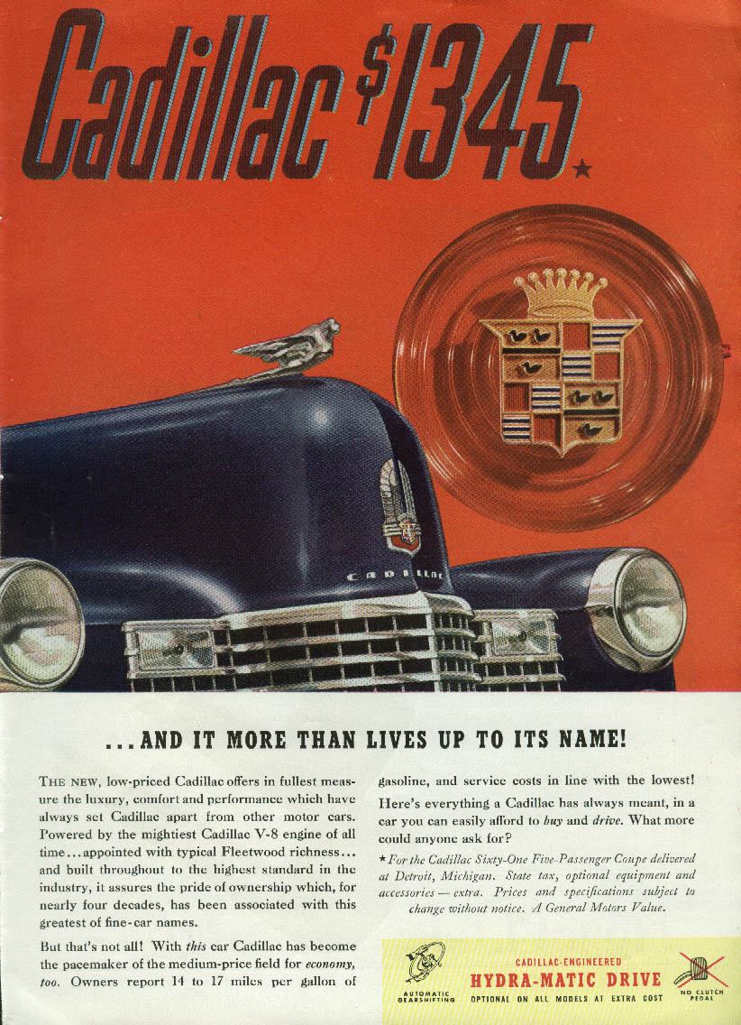 It more than lives up to its name Cadillac $1345 ad 1941
