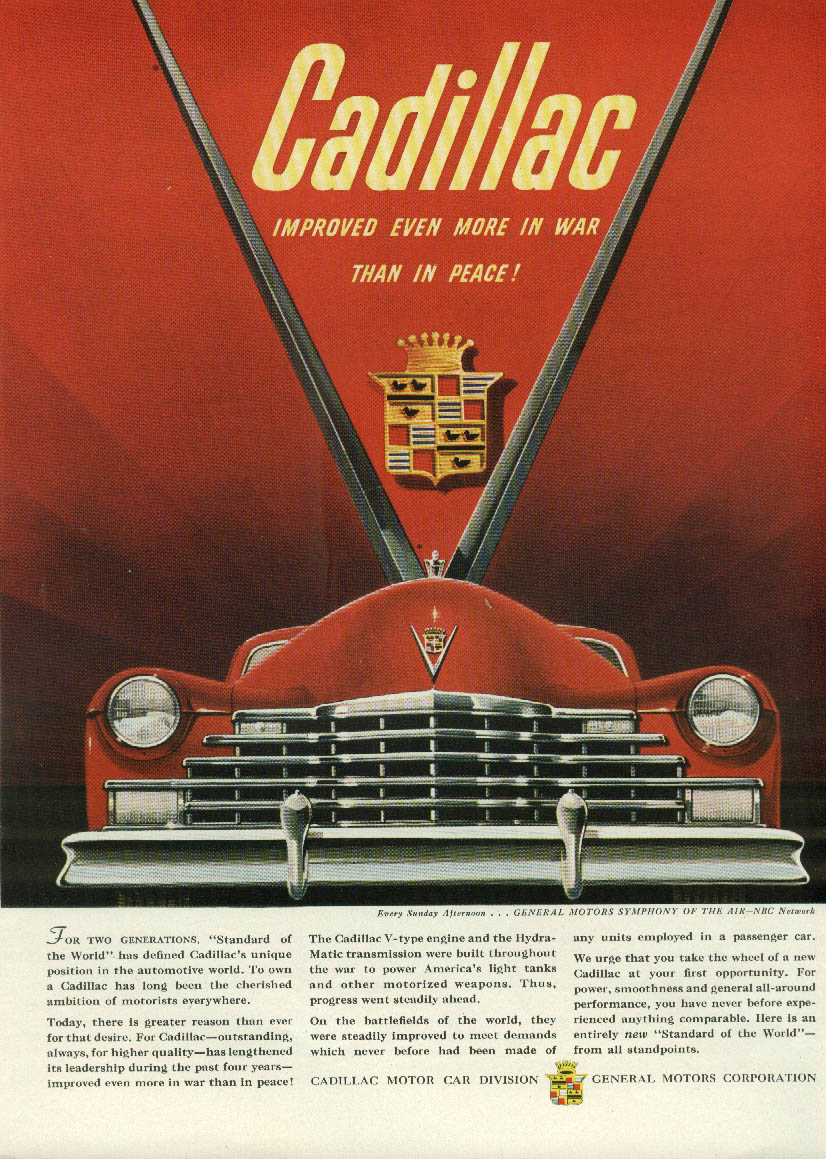 For two generations Cadillac / TWA Constellation to Egypt ad 1946
