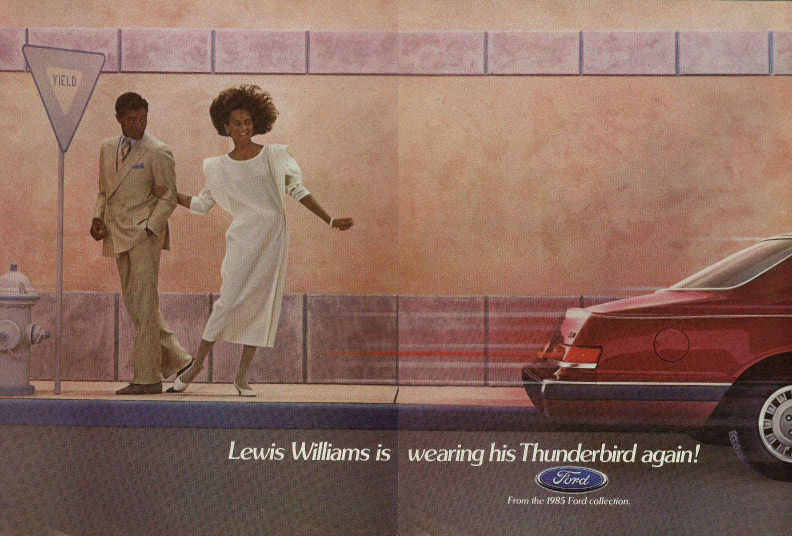 Image for Lewis Williams is wearing his Ford  Thunderbird again! Ad1985 Negro models