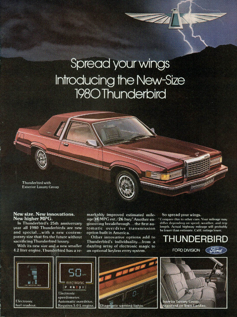 Image for Spread your wings: Introducing the New-Size Ford Thunderbird ad 1980
