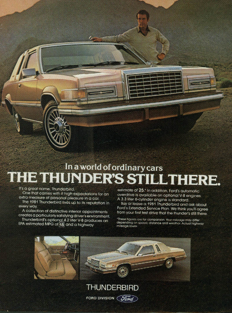 Image for Ford Thunderbird the thunder's still there ad 1981 Southern Living