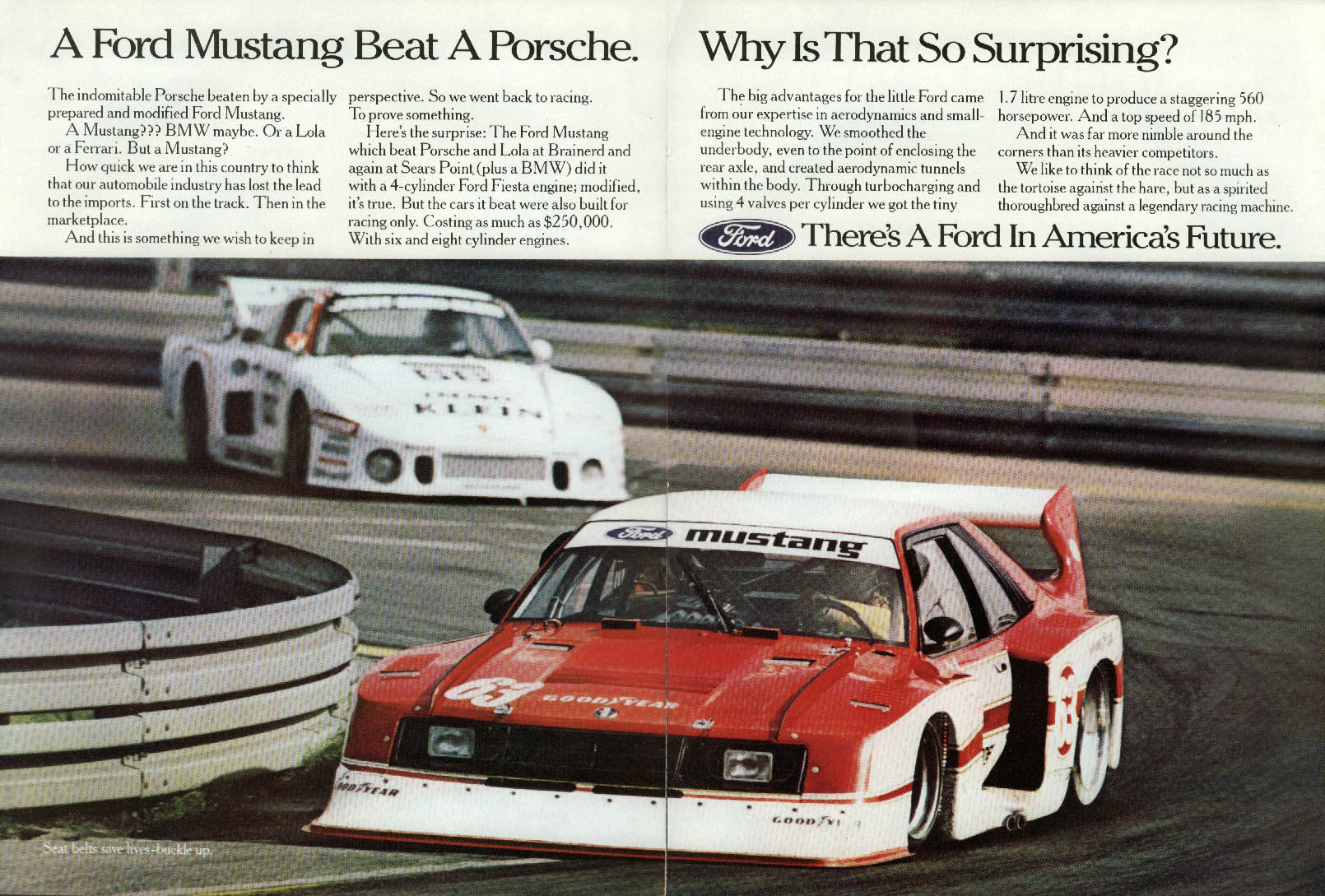 A Ford Mustang Beat a Porsche. Why Is That So Surprising? Ad 1982