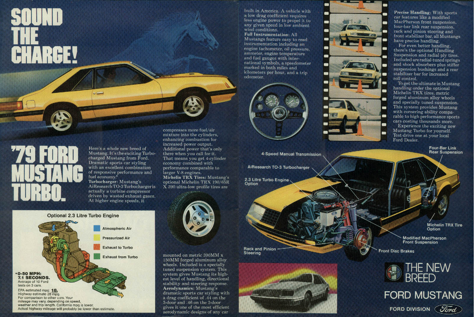Sound the charge! Ford Mustang Turbo ad 1979