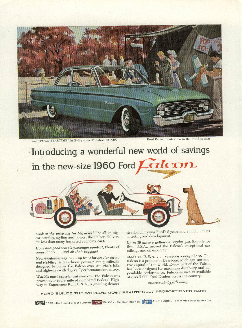 Introducing a wonderful new world of savings Ford Falcon ad 1960