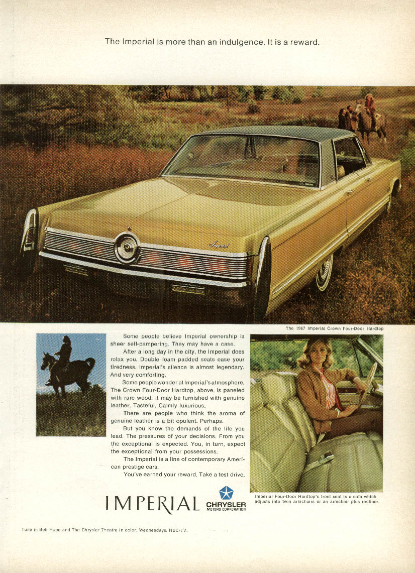 Image for More than an indulgence - a reward Imperial by Chrysler ad 1967