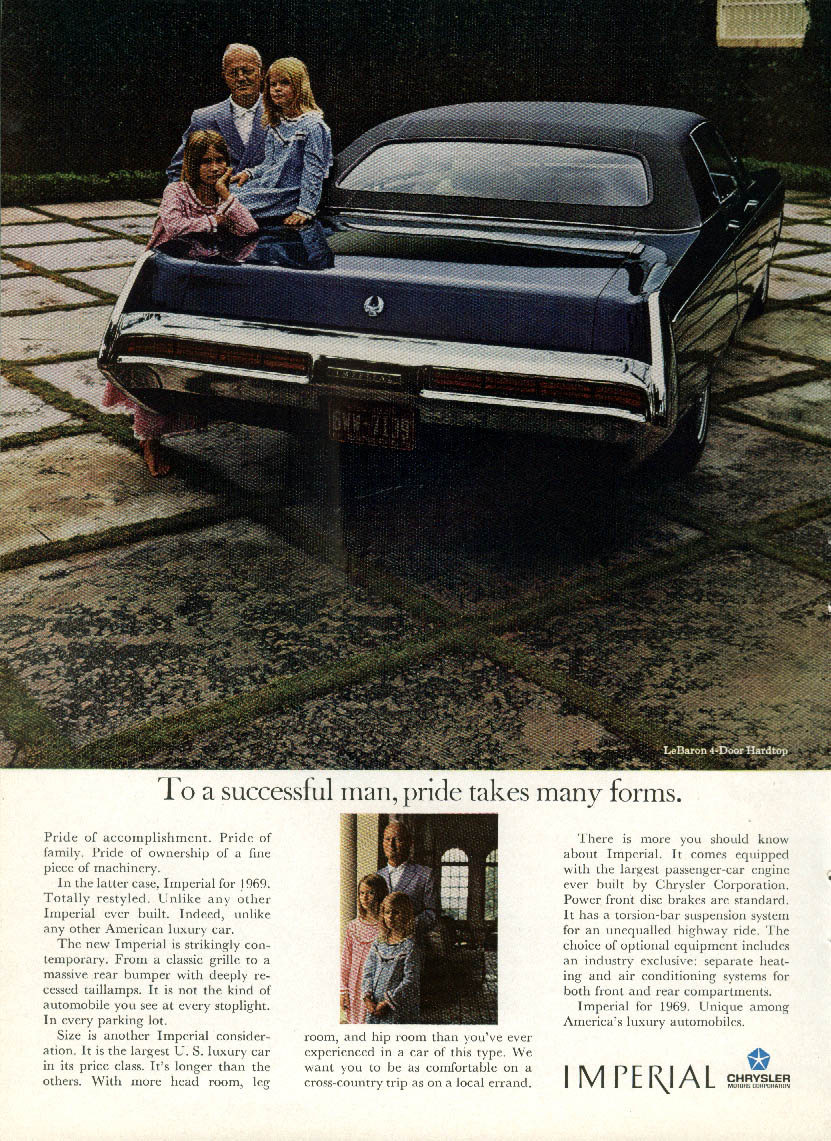 Image for To a successful man, pride takes many forms Imperial by Chrysler ad 1969