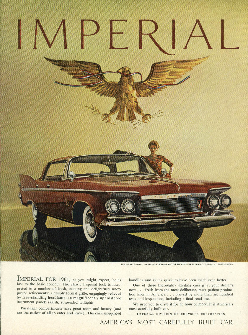 Image for As you might expect, holds to the basic concept Imperial by Chrysler ad 1961