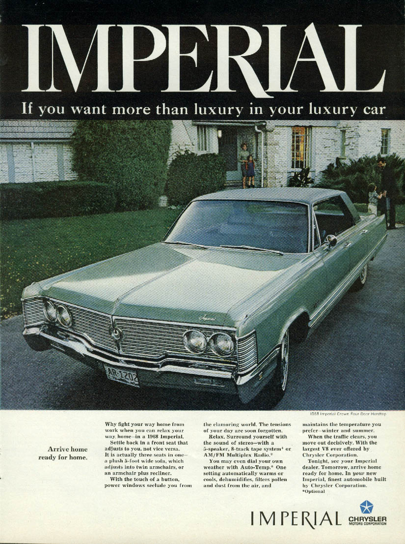 Image for Arrive home ready for home Imperial by Chrysler ad 1968
