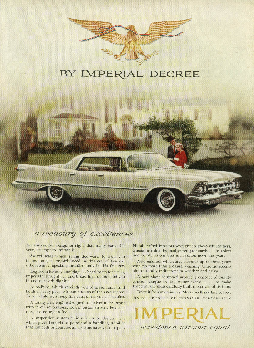 Image for A treasury of excellences Imperial by Chrysler ad 1959