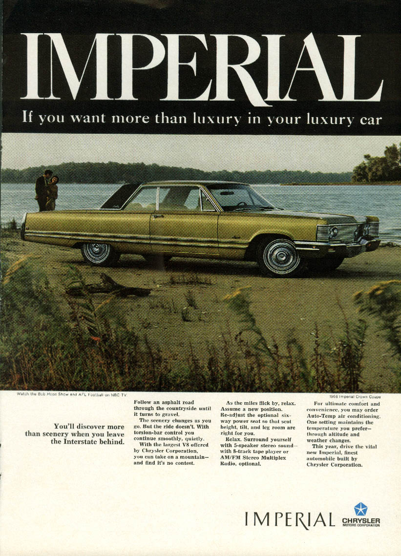 Image for Discover more when you leave the Interstate Imperial by Chrysler ad 1968