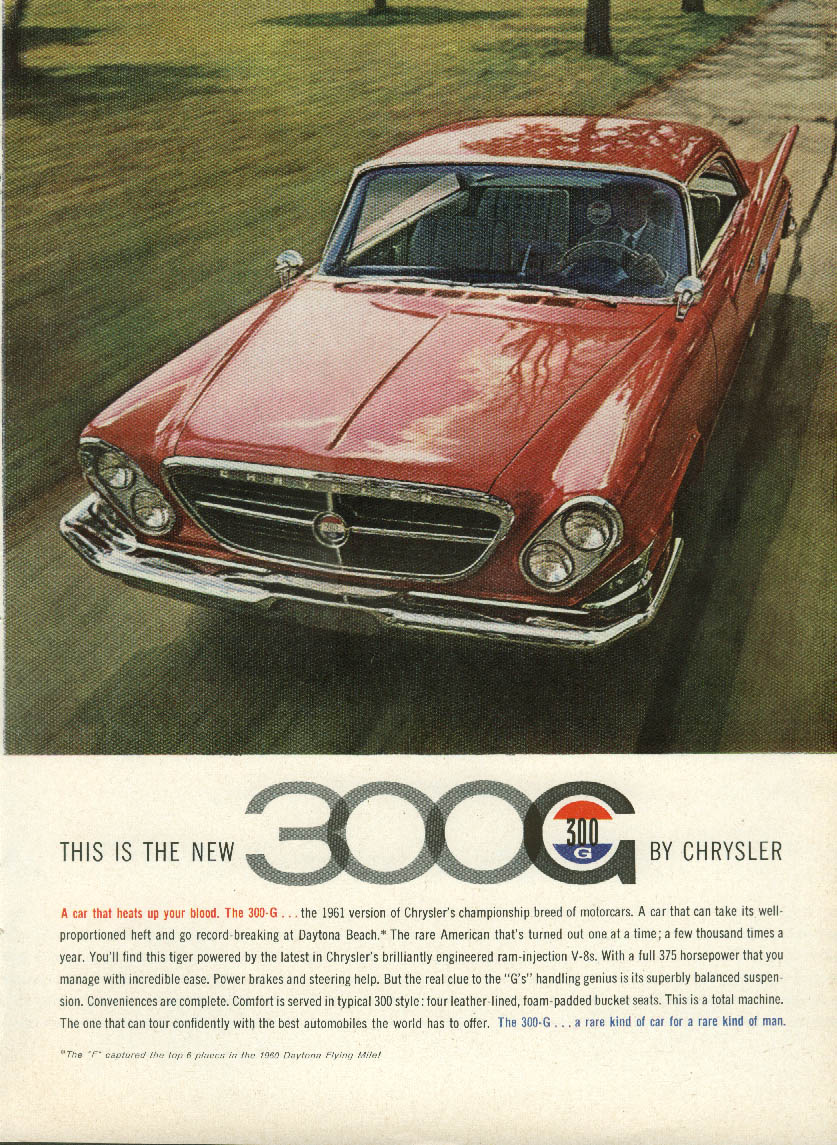 Image for This is the new 300-G by Chrysler ad 1961 the car that heats up your blood