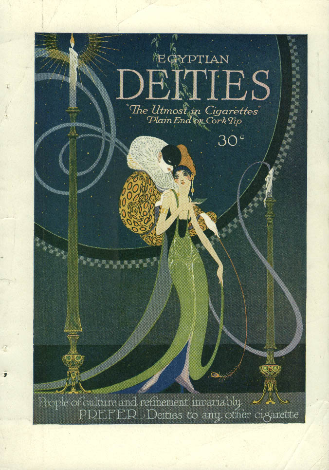 Image for People of culture & refinement Egyptian Deities Cigarettes ad