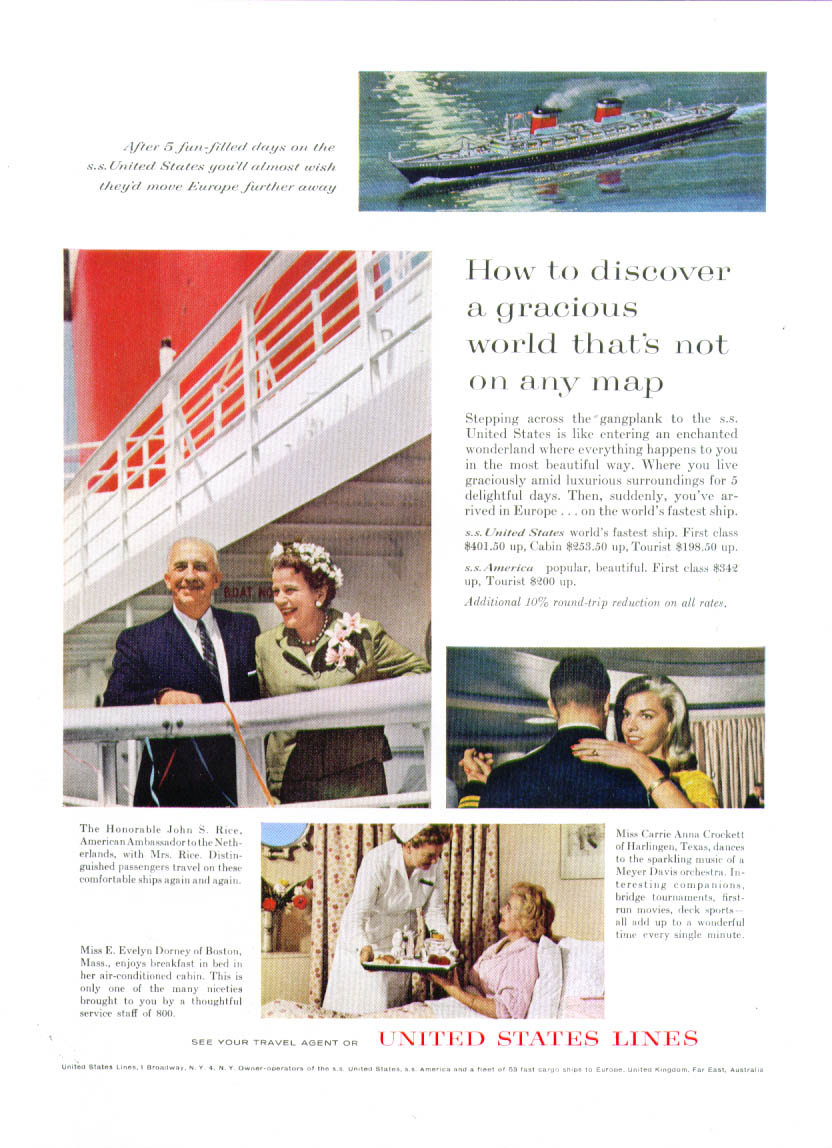 How to discover a gracious world not on any map S S United States ad 1962