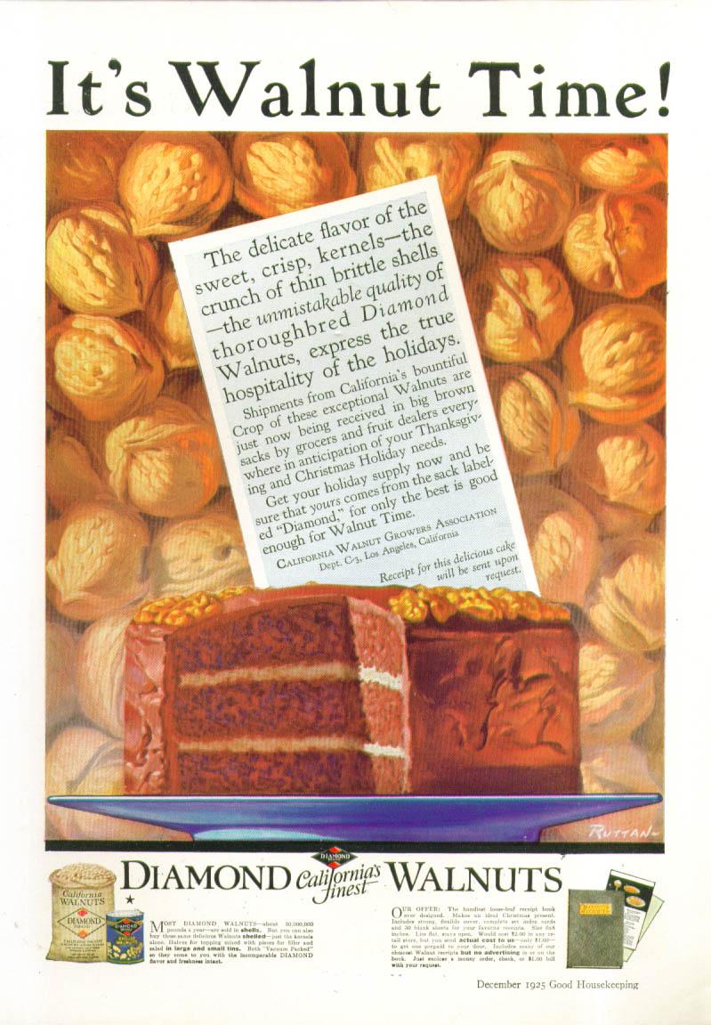 Image for It's Walnut Time! Diamond Walnuts ad 1925