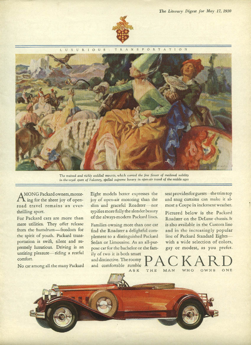 Packard Cabriolet Convertible / Pontiac Big Six Custom Sedan ad 1930 LD