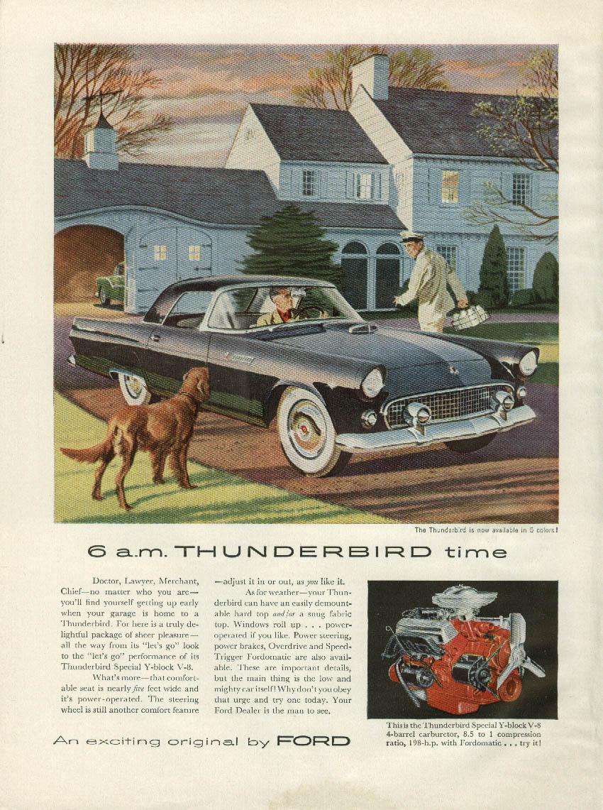 6 a.m Thunderbird Time ad 1955 NY