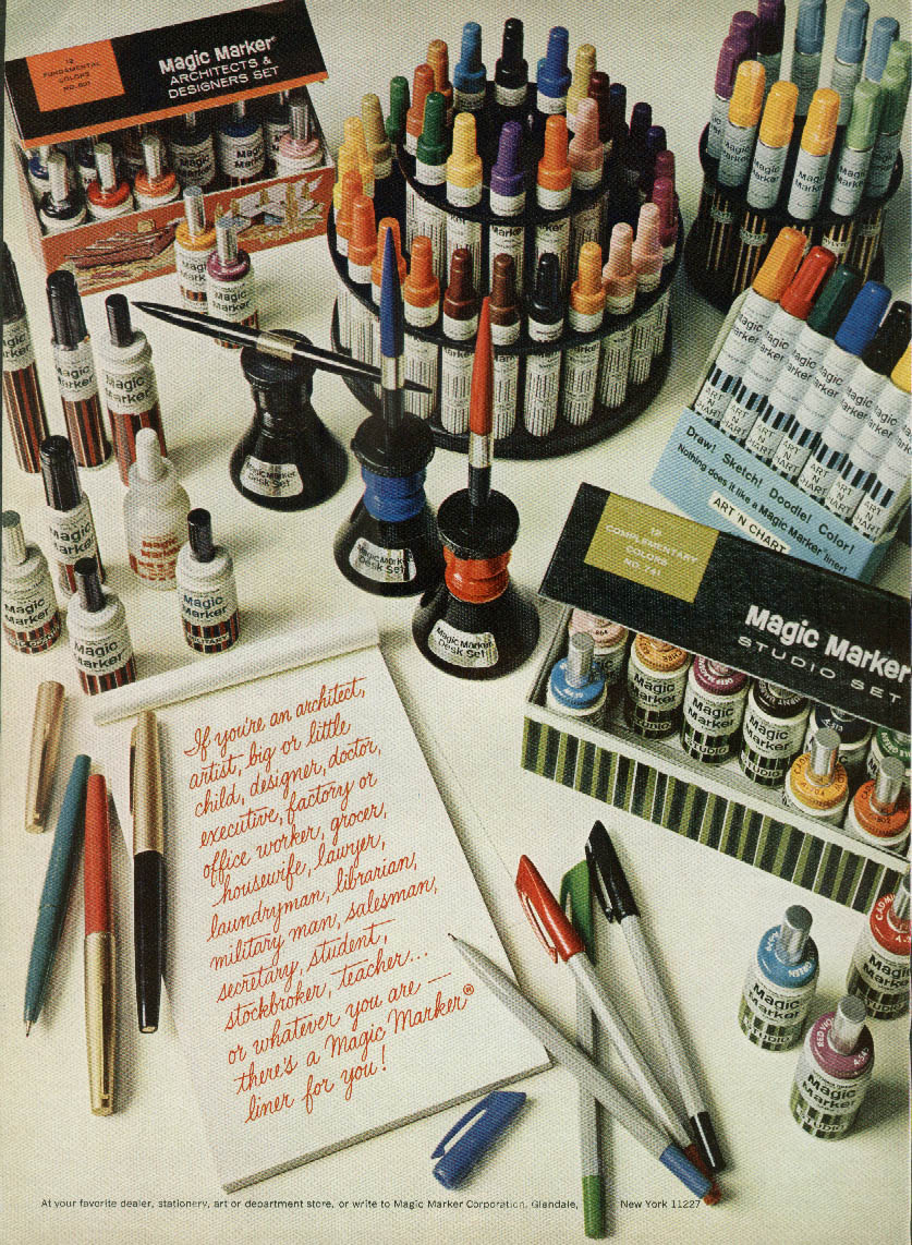 Image for Whatever you are there's a Magic Marker liner for you ad 1967