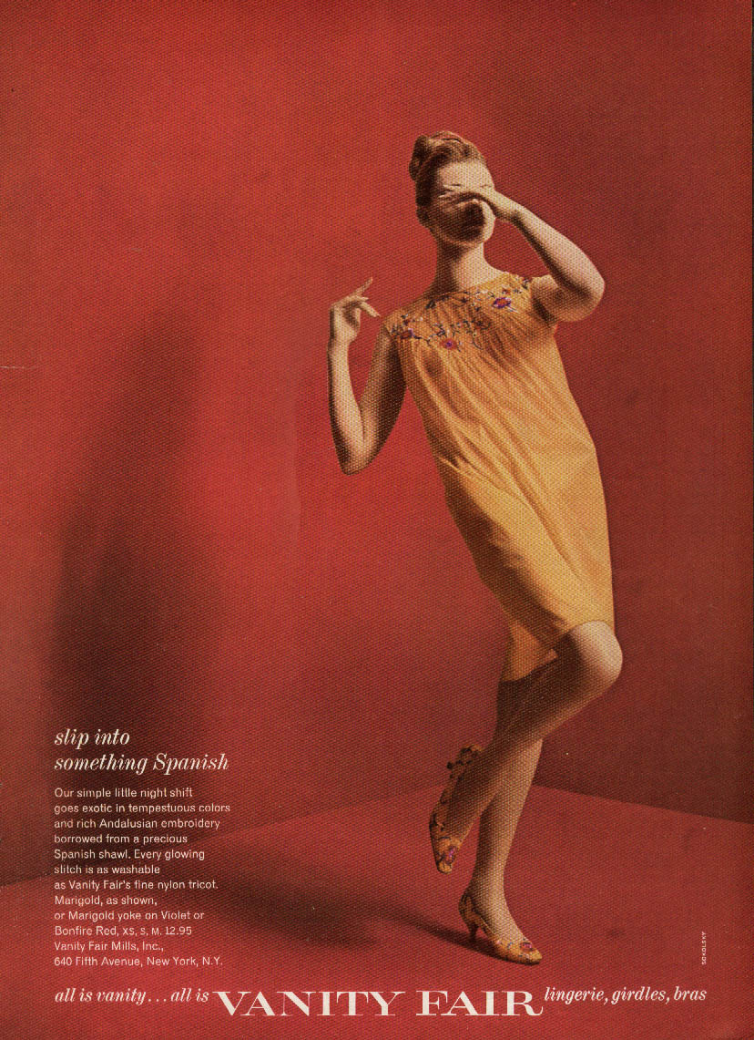 Slip into something Spanish Vanity Fair Nightgown ad 1964