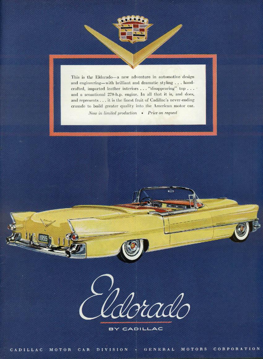 A new adventure in automotive design Eldorado by Cadillac ad 1955 NY