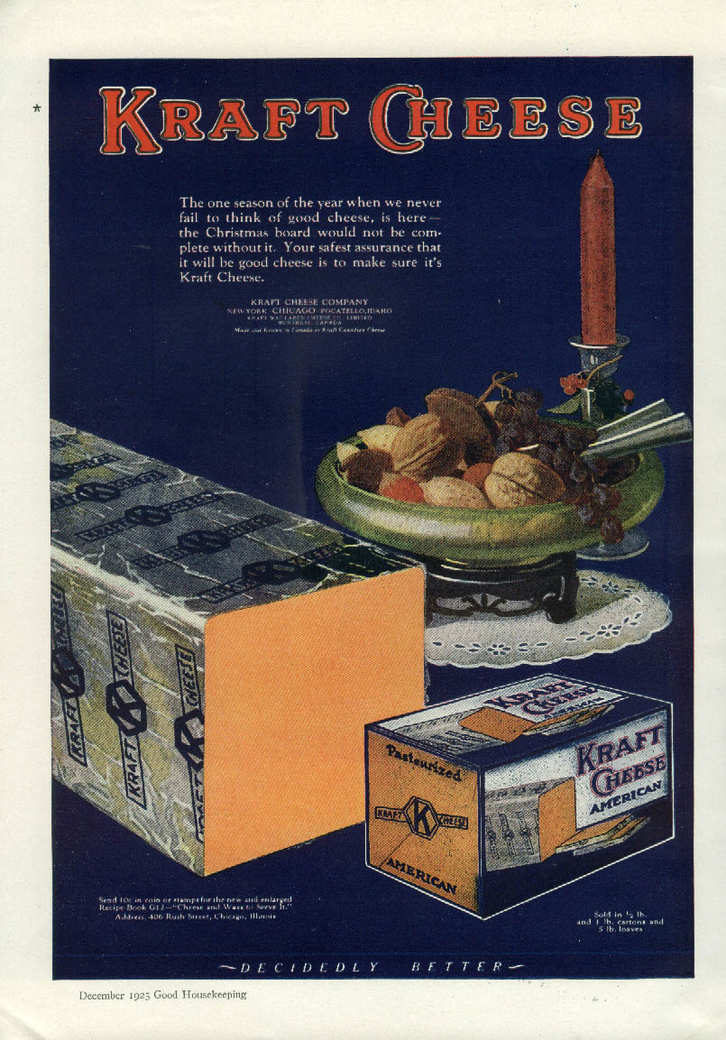 Image for The one season we never fail to think of good Kraft Cheese ad 1925