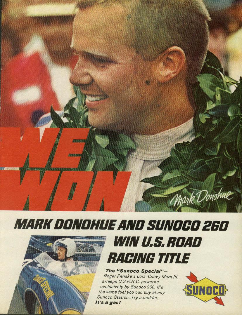 Image for We Won Mark Donohue & Sunoco 260 Lola-Chevy Mark III ad 1967