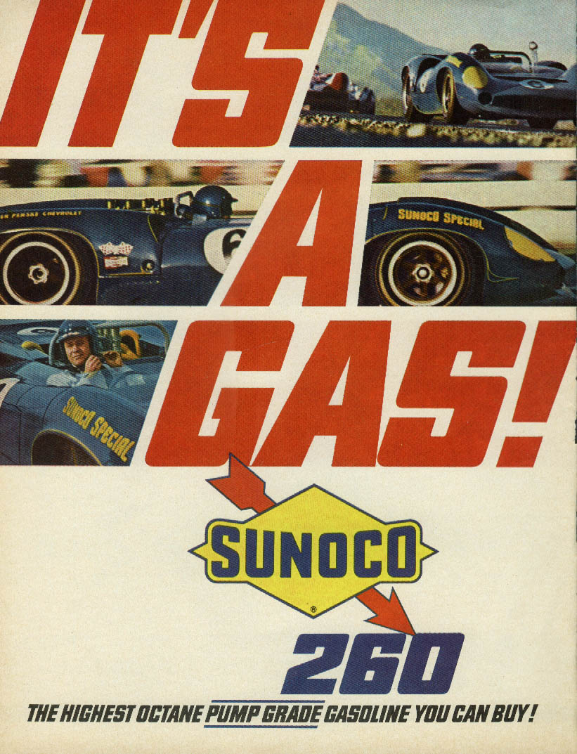 It's a Gas! Sunoco 260 Roger Penske Chevrolet #6 ad 1967 #1