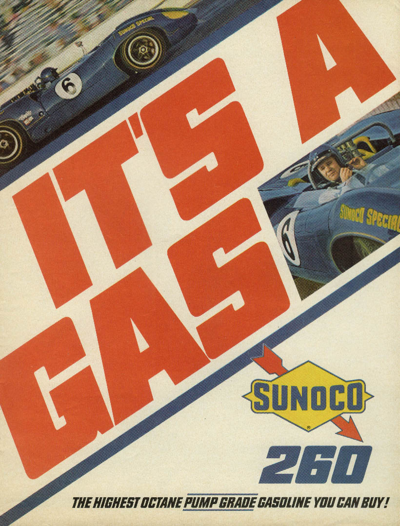 It's a Gas! Sunoco 260 Roger Penske Chevrolet #6 ad 1967 #2