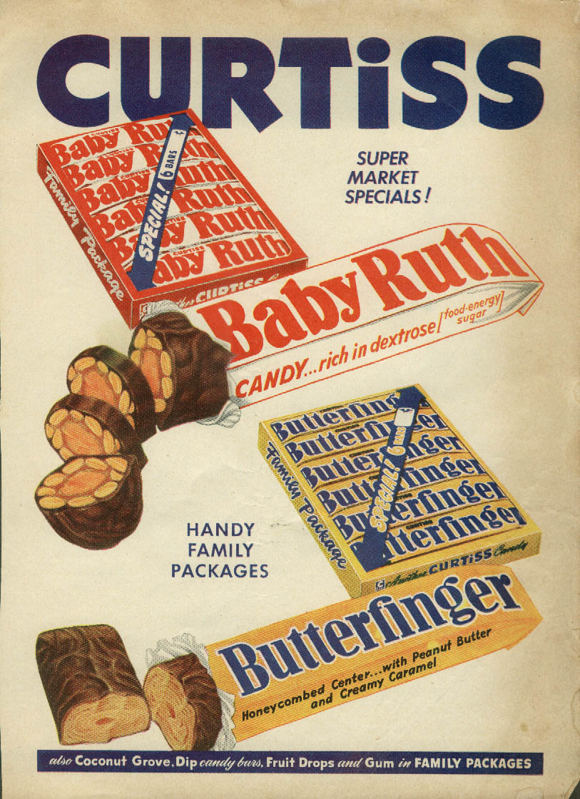 Image for Super Market Specials! Baby Ruth & Butterfinger Candy Bars ad 1951