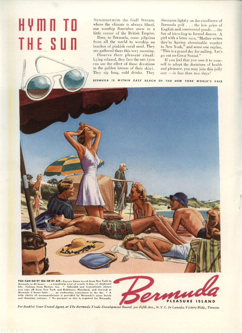 How many cars do you see? Packard / Hymn to the Sun Bermuda Tourism ad 1939