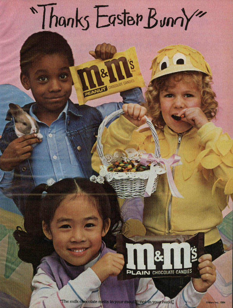 Image for Thanks Easter Bunny! M&M's Candy ad 1986