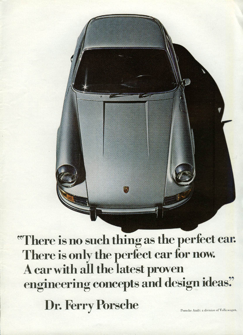 Image for No such thing as the perfect car - Ferry Porsche - Porsche 911 ad 1971 NY