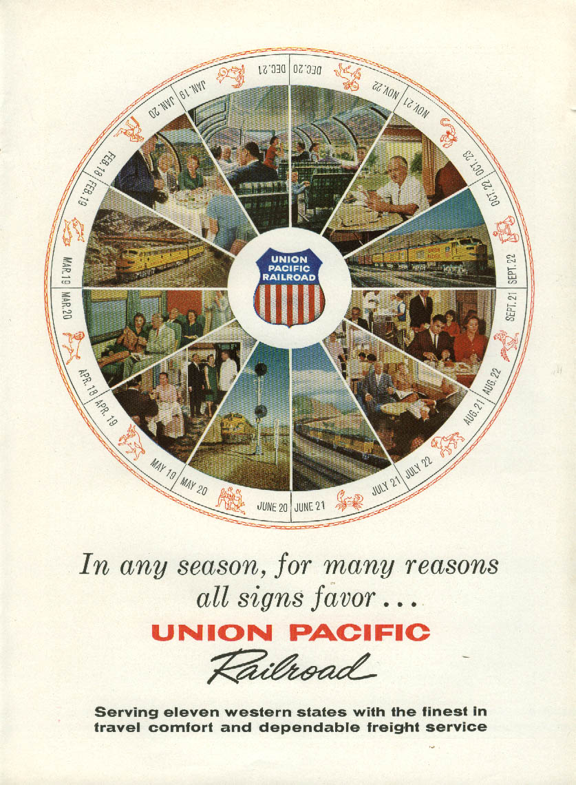 Image for Any season, many reasons all signs favir Union Pacific Railroad ad 1960