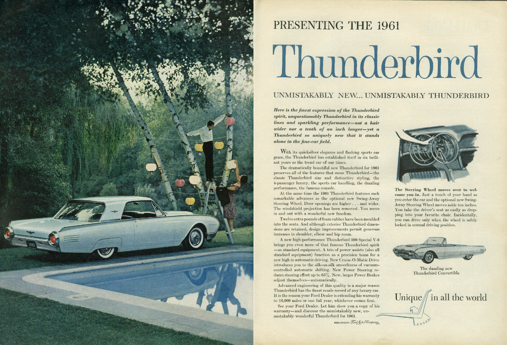 Image for Presenting the 1961 Thunderbird Coupe & Convertible ad NY