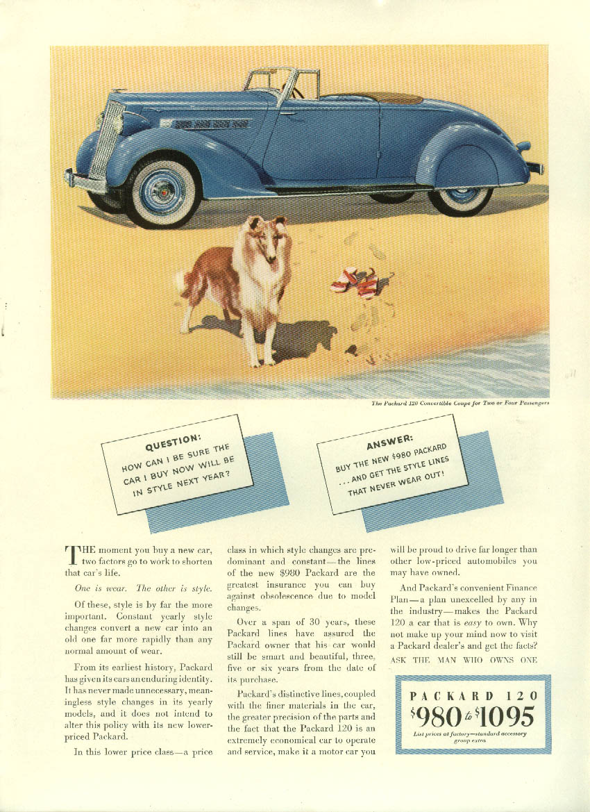 How can I be sure? Buy the new Packard 120 Convertible Coupe ad 1935 NY