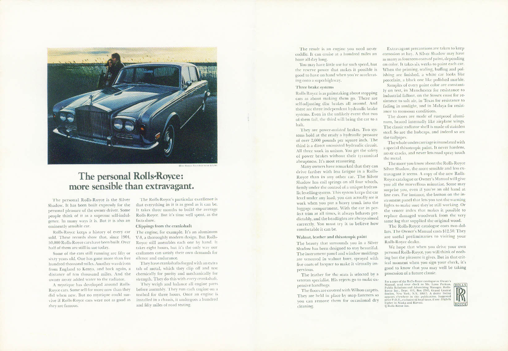 Image for The personal Rolls-Royce: more sensible than extravagant ad 1971