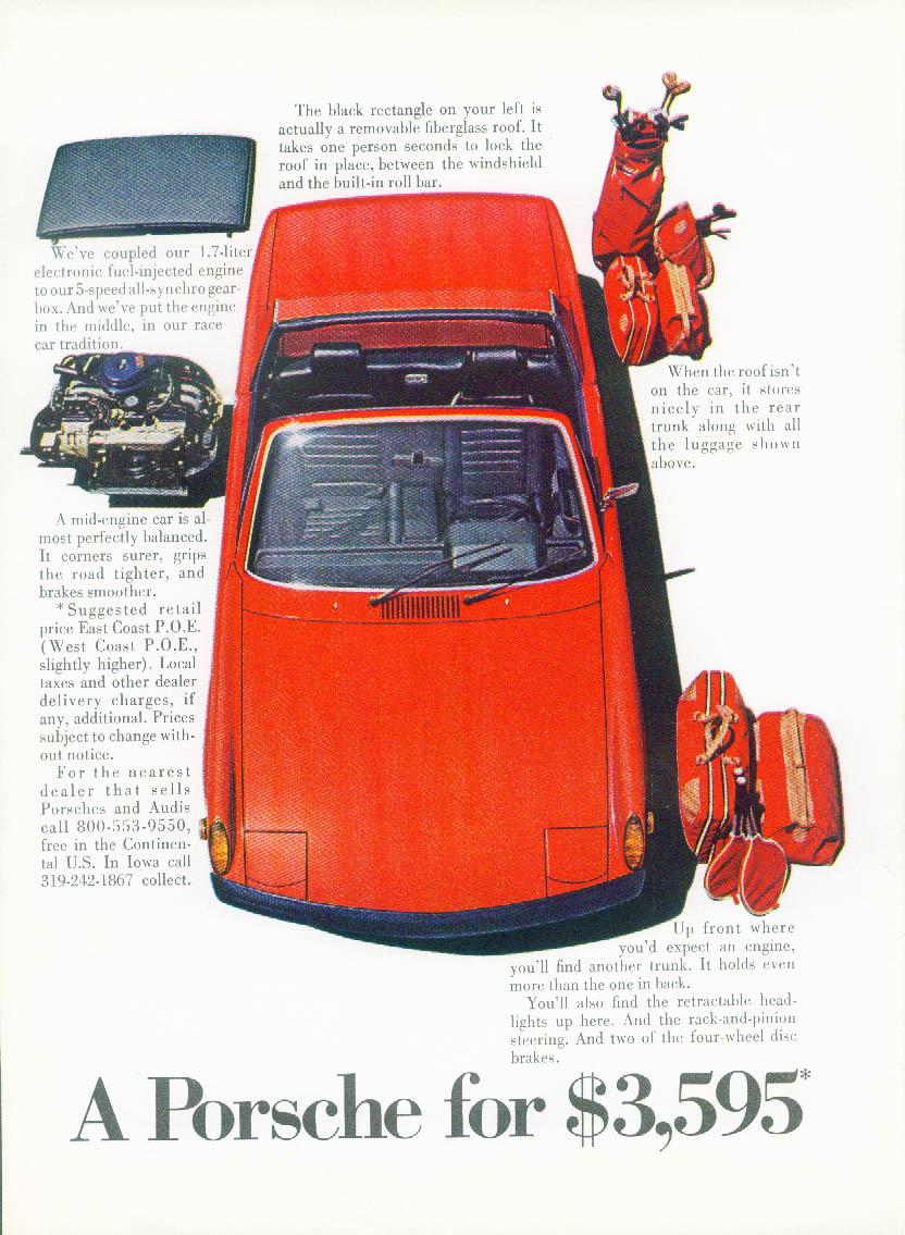 Image for A Porsche for $3595 Porsche 914 ad 1971 NY