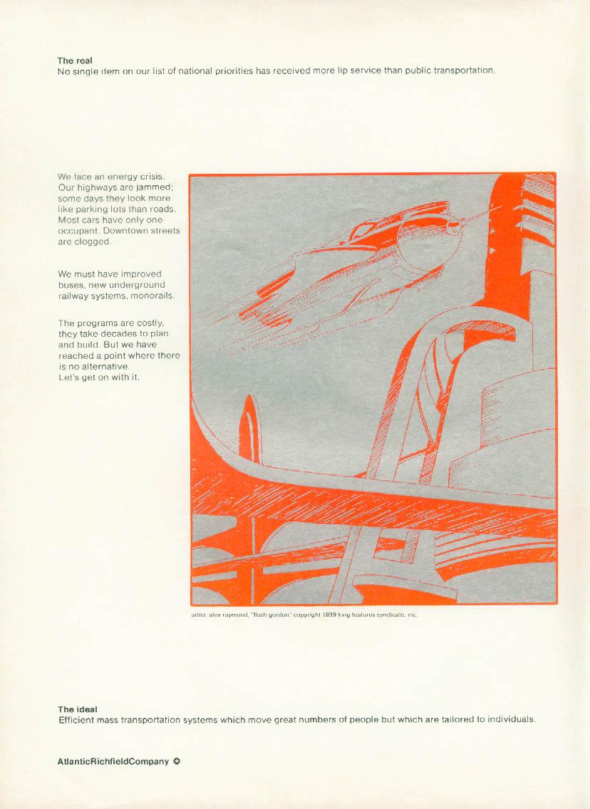 Atlantic Richfoeld The Real The Ideal Alex Raymond Flash Gordon ad 1974