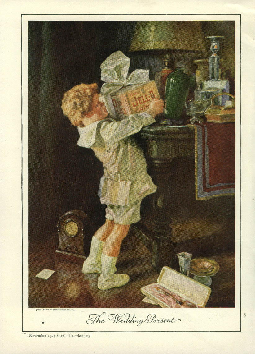 Image for The Wedding Present Jell-O ad 1924 kid about to tip over vase