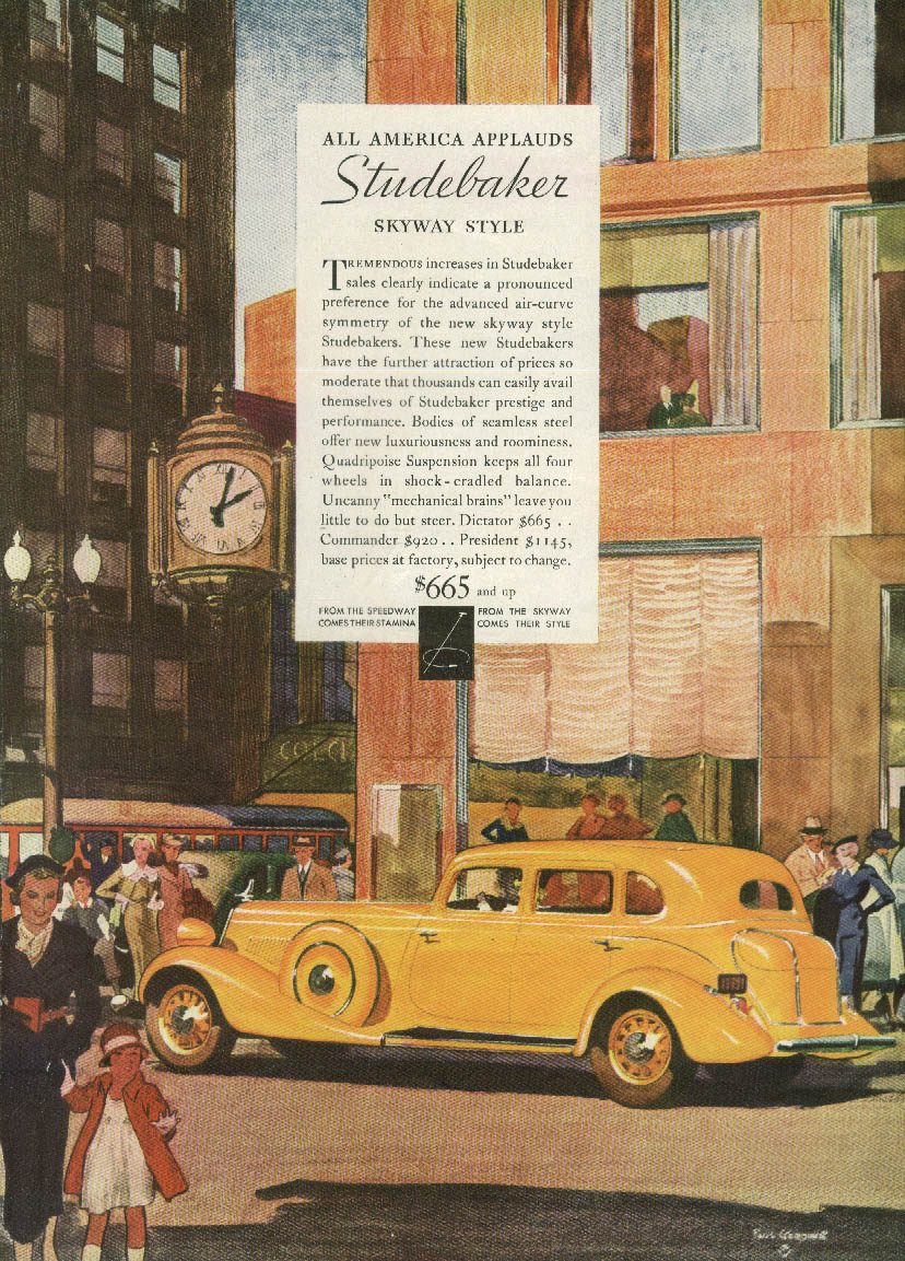 All America applauds Studebaker Skyway Style ad 1934 AM