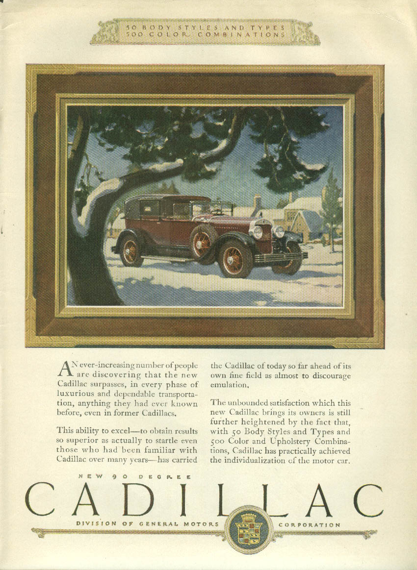 An ever-increasing number of people Cadillac Town Car ad 1926 1927 LD