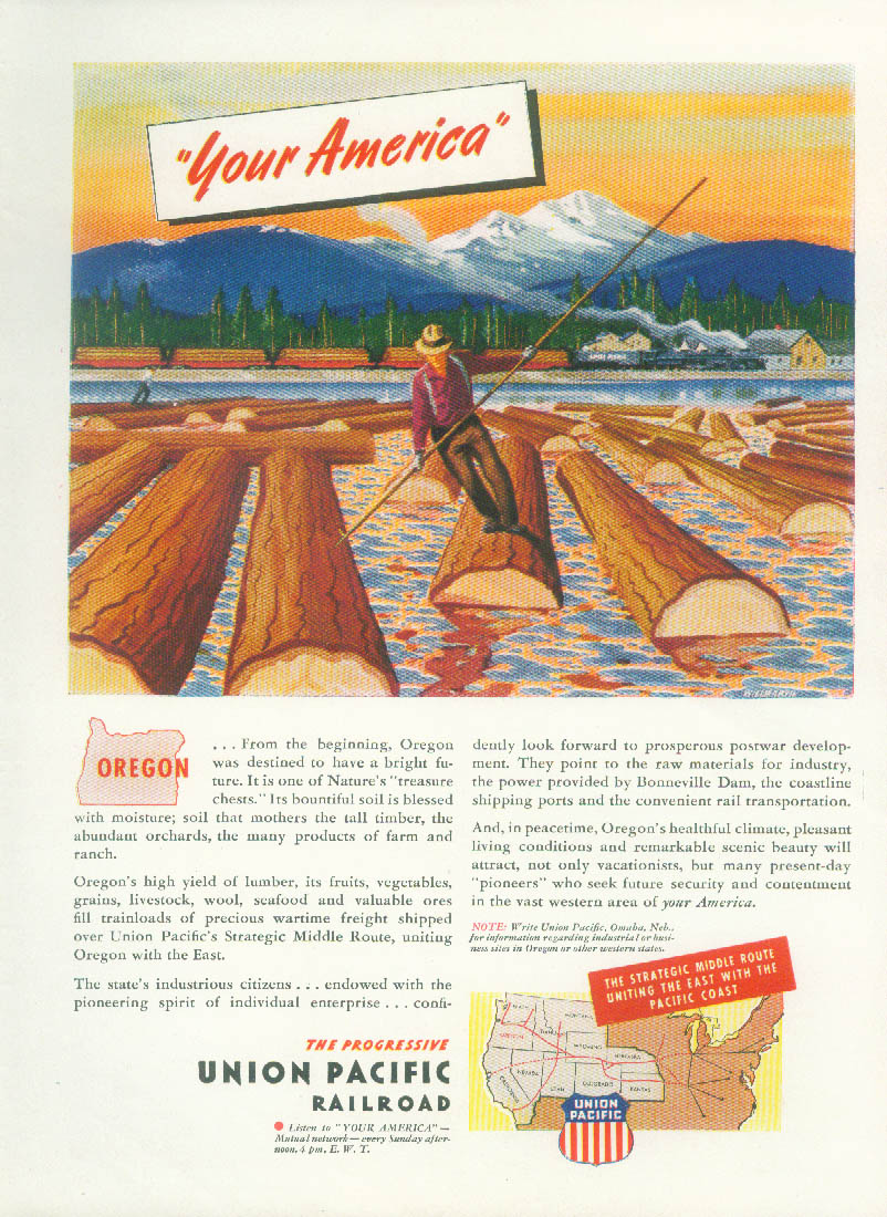 Image for Your America- Oregon - Union Pacific Railroad ad