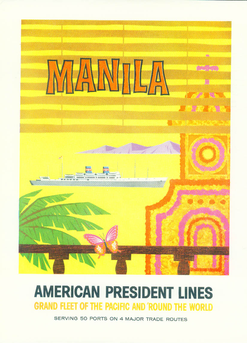 American President Lines Grand Fleet to Manila Philippines ad 1958