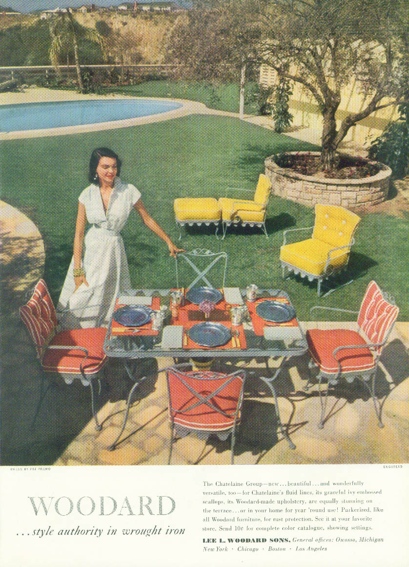 The Chatelaine Group Woodard Style Authority in Wrought Iron ad 1950