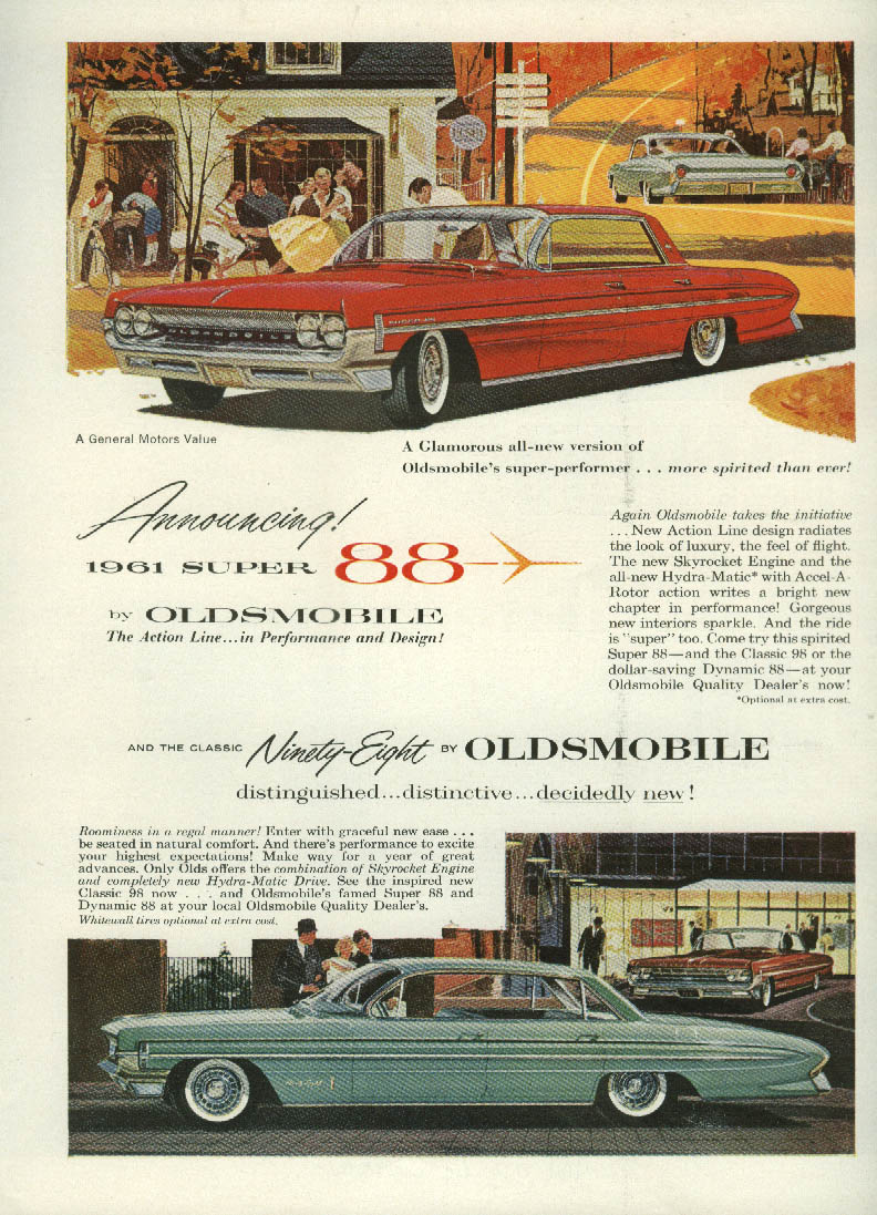Announcing 1961 Super 88 by Oldsmobile ad Canadian